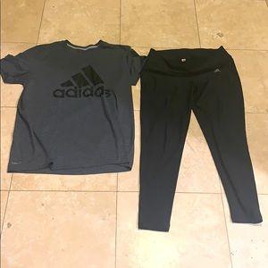 XL Adidas workout set